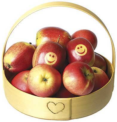 Smilefjes og god jul eple